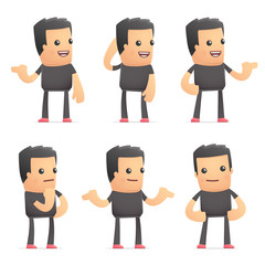 set of bad guy character in different poses