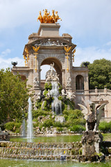 The Cascada in Parc de la Ciutadella in Barcelona