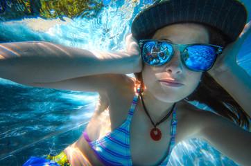 Cooles Unterwasserportrait