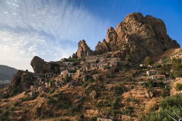 Pentidattilo, a ghost village in Calabria, Italy