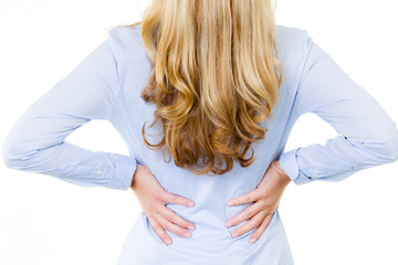 woman has back pain