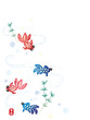 The vector illustration background of a cool goldfish