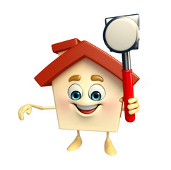 House character with hammer