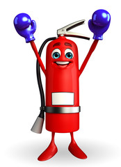 Fire Extinguisher character with Boxing Gloves