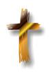 goldene Kreuzsilhouette