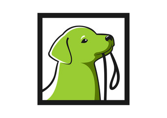 Smart Dog  logo abstract help way