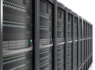 Detail of blade server system