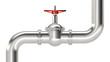 Leinwanddruck Bild - pipe and valve