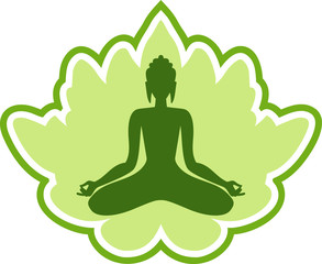 Yoga meditation green