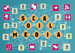 social media and social network concept, vector