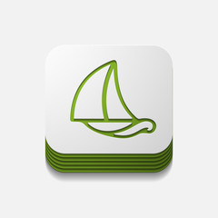 square button: sailboat