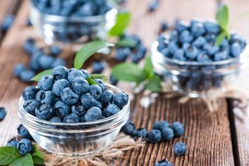 Portion of fresh harvested Blueberries