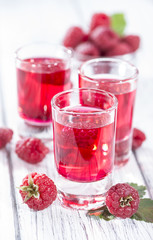 Glass with Raspberry Liqueur