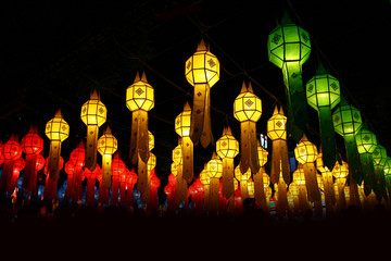many chinese lanterns