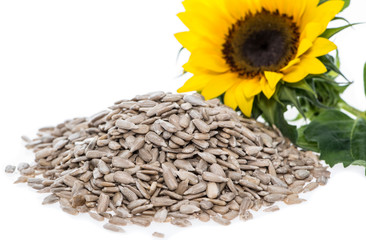 Isolated Sunflower Seeds
