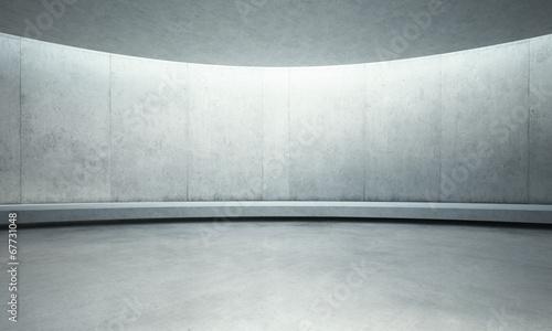 Leinwanddruck Bild empty concrete open space interior with sunlight