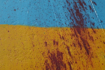 Ukraine flag graffiti