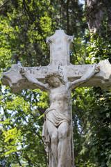 altes Grabkreuz, Kreuzigung