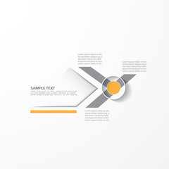 Minimal design template, vector