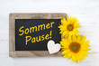 canvas print picture - Sommerpause