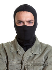 Portrait of a masked burglar