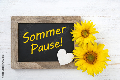 canvas print picture Sommerpause