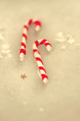 Christmas holiday candy sticks