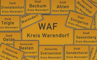 Ortsschilder Kreis Warendorf