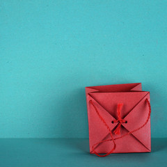 Gift bag in red