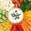 Vegetarische Gemüse Fingerfood zum Essen mit Dip