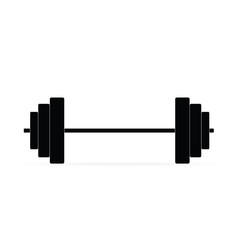 Icon barbell. Raster