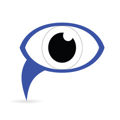 Blue Icon eye. Raster