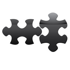 Two black puzzle. Raster