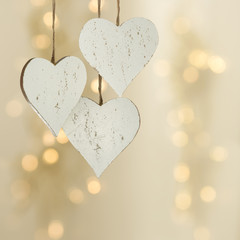 Love heart on a Christmas background