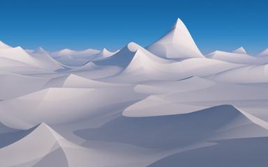 Desert white sand.