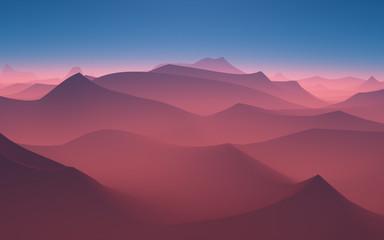 Desert red sand.