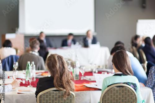 team work at conference workshop