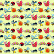 Funny insects with background.