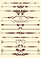 Set of decorative elements for editable and design