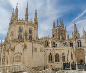 Burgos cathedral rear