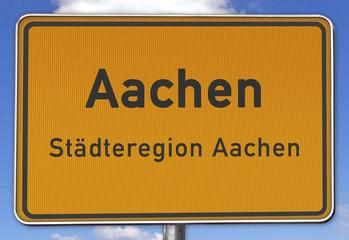 Ortsschild Aachen Städteregion