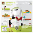 Woman Shopping Beautify And Lifestyle Infographic