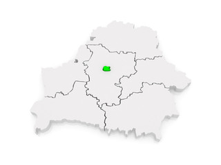 Map of Minsk. Belarus.