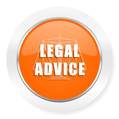 legal advice orange computer icon