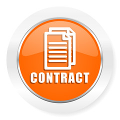 contract orange computer icon