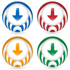 set of four icon with arrow