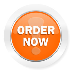 order now orange computer icon