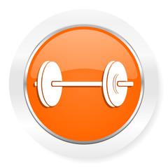 fitness orange computer icon