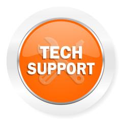 technical support orange computer icon
