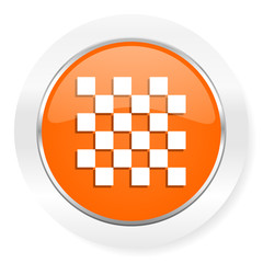 chess orange computer icon